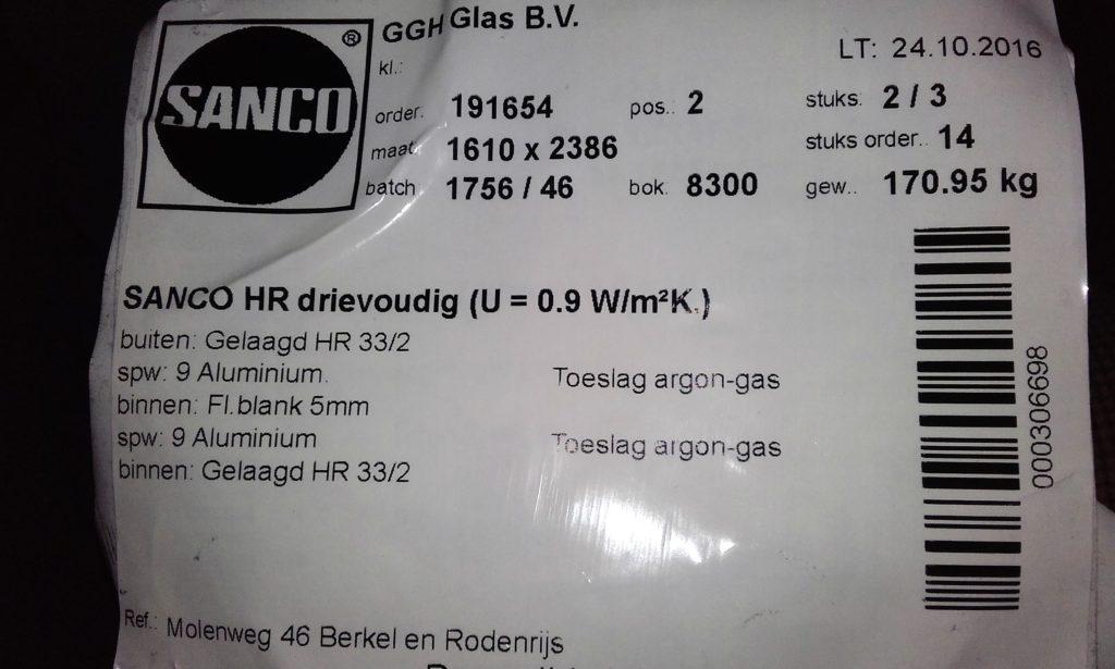 isolatiewaarde-driedubbelglas